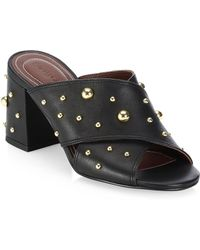 See By Chloé - Abby Black Studded Leather Mules - Lyst
