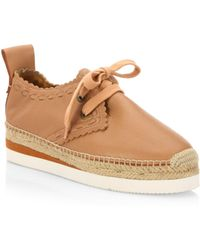 See By Chloé - Glyn Leather Espadrille Sneakers - Lyst