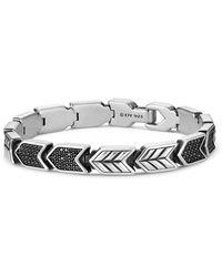 David Yurman - Chevron Link Bracelet With Black Diamonds - Lyst
