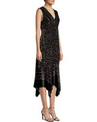 Nanette Lepore - Aroma Leopard Burnout Velvet Midi Dress - Lyst