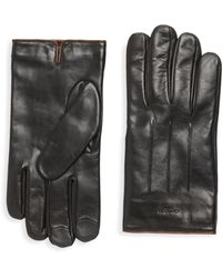 COACH - Tech Leather Gloves - Lyst