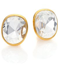 Kenneth Jay Lane | Jeweled Clip-on Button Earrings | Lyst
