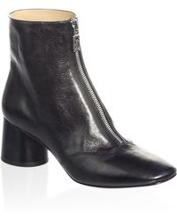 Marc Jacobs - Natalie Front Zip Ankle Boots - Lyst