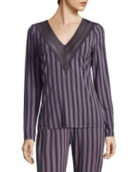 Saks Fifth Avenue - Collection Lori Striped Top - Lyst