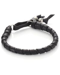 King Baby Studio - Thin Natural Wrap Leather Bracelet - Lyst
