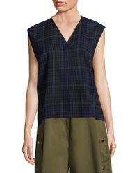 Public School - Ela Plaid Top - Lyst