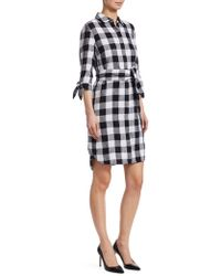 Saks Fifth Avenue - Collection Checked Shirt Dress - Lyst