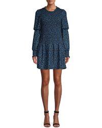 Parker - Lilly Smocked Mini Dress - Lyst