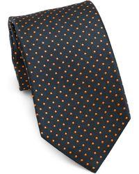 Isaia - Embroidered Silk Tie - Lyst