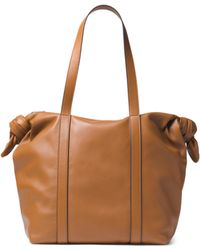 Michael Kors - Knot Leather Zip Tote - Lyst