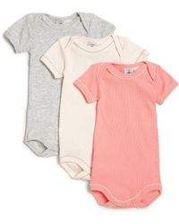 Petit Bateau - Baby's Solid Three-piece Bodysuit Set - Lyst