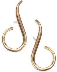 Melissa Kaye - Aria Grace 18k Yellow Gold Earrings - Lyst
