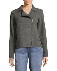 Eileen Fisher - Boiled Wool Moto Jacket - Lyst