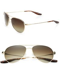 Barton Perreira - Lovitt Round Metal Polarized Aviator Sunglasses - Lyst