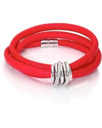 De Grisogono - Allegra Diamond, 18k White Gold & Leather Wrap Bracelet/parrot - Lyst