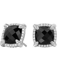 David Yurman - Châtelaine Pave Bezel Stud Earring With Gemstone And Diamonds - Lyst