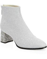 Sophia Webster - Stella Glitter Leather Ankle Boots - Lyst