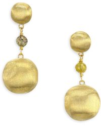 Marco Bicego - Africa Diamond Gold Beaded Drop Earrings - Lyst
