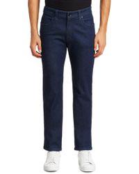 Giorgio Armani - Twill Straight-leg Jeans - Lyst