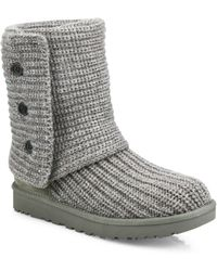 UGG - Classic Cardy Knit Boots - Lyst