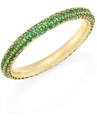 Kwiat | Moonlight Emerald & 18k Yellow Gold Band Ring | Lyst