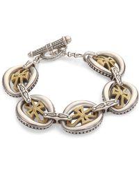 Konstantino - Penelope Cross Link Bracelet - Lyst