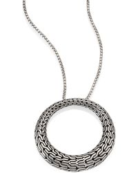 John Hardy - Classic Chain Sterling Silver Graduated Pendant Necklace - Lyst