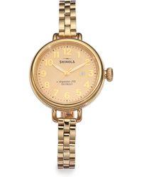 Shinola - Birdy Goldtone Pvd Stainless Steel Bracelet Watch - Lyst