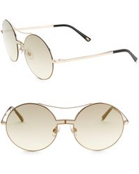 Web - 55mm Round Gradient Sunglasses - Lyst