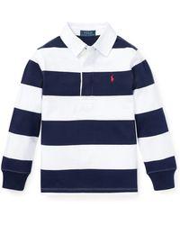 Ralph Lauren Little Boy's & Boy's Rugby Shirt - Blue