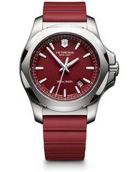 Victorinox - Maverick Inox Stainless Steel & Rubber Watch - Lyst
