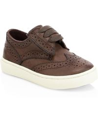 Ralph Lauren - Baby's & Kid's Alek Perforated Oxford Sneakers - Chocolate - Size 5 (baby) - Lyst