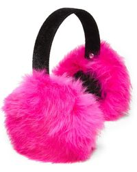 Surell - Girl's Rabbit Fur Earmuffs - Lyst