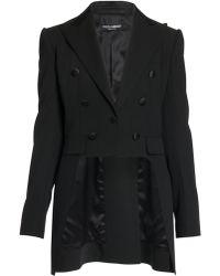 Dolce & Gabbana - High-low Wool-blend Tuxedo Jacket - Lyst