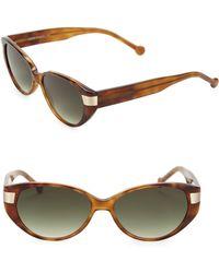 Colors In Optics - South Beach 54mm Cat's Eye Sunglasses - Lyst
