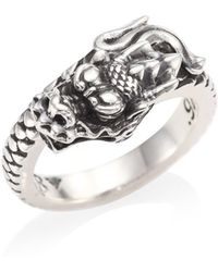 King Baby Studio | Sterling Silver Dragon Coil Ring | Lyst