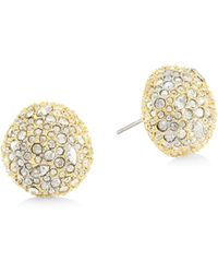 Alexis Bittar - Elements Swarovski Crystal & 10k Yellow Gold Post Stud Earrings - Lyst