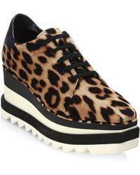 Stella McCartney - Leopard Platform Oxfords - Lyst