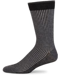 Saks Fifth Avenue - Cotton Ribbed Knit Socks - Lyst