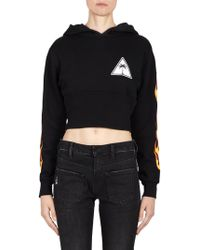Palm Angels | Flames Cropped Hoodie | Lyst
