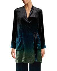 Beatrice B. - Velvet Ombre Tie Front Jacket - Lyst