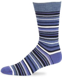 Saks Fifth Avenue | Collection Striped Knit Socks | Lyst