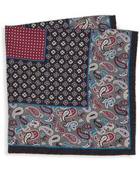 Saks Fifth Avenue - Collection Paisley & Floral Boxed Silk Pocket Square - Lyst