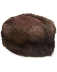 Saks Fifth Avenue - Russian Sable Fur Hat - Lyst