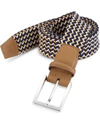 Saks Fifth Avenue - Collection Woven Cotton Belt - Lyst