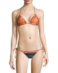 Sinesia Karol - Alyssa Diamond-print String Bikini Top - Lyst