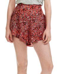 Maje - Printed Shorts - Lyst