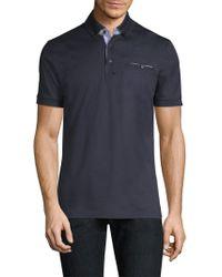 Pal Zileri - Short-sleeve Cotton Polo - Lyst