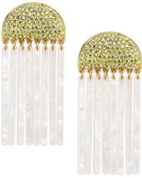 Lele Sadoughi - Confetti Crystal Comb Earrings - Lyst