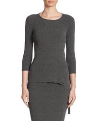 Armani Jeans | Ribbed Knit Tunic | Lyst